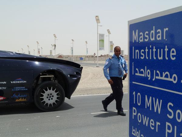 Superbus visits Masdar City